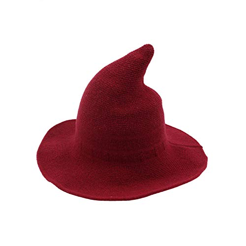 Women Witch Solid Hat Foldable Costume Sharp Large