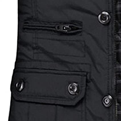 Gleader UF1031 New Men's Jacket Coat Slim Clothes Winter Warm Overcoat  Casual Outerwear - Black XXL: Amazon.co.uk: Clothing