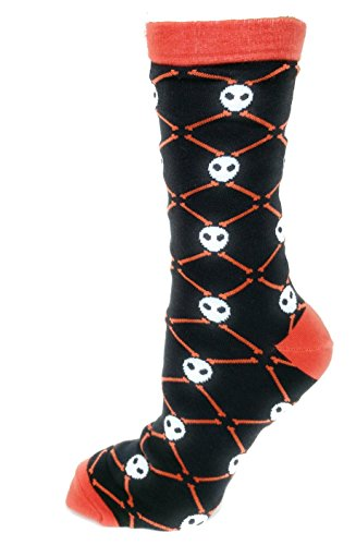 Novelty Mens Suits (Funny Men's Luxury Cotton Dress Socks Halloween Holiday Fashion Novelty Suits Socks Skull Gift for Him (Large, Black))