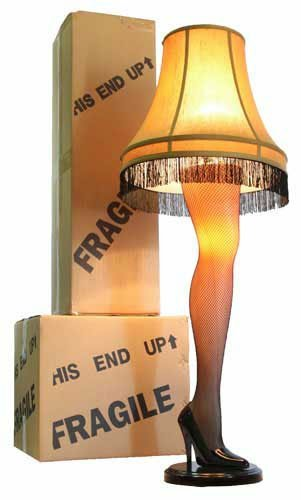 A Christmas Story House - A Christmas Story Full Size 45'' Leg Lamp, Cream by A Christmas Story House
