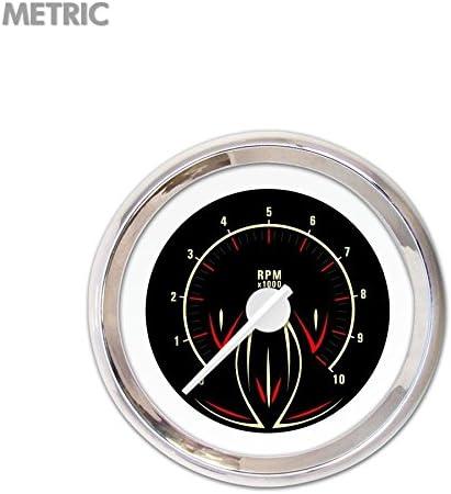 GAR2119ZMXIABCD Pinstripe Series II Black Tachometer Gauge Aurora Instruments