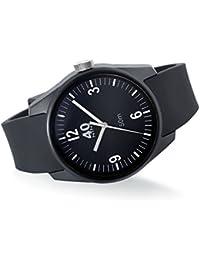 Men's 'BASIC' Quartz Plastic and Silicone Casual Watch, Color:Black (Model: 40N2.5.1M)