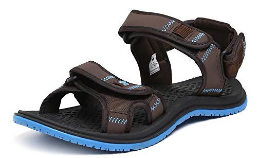 3a94b6a4ebf3 Wildcraft Men s Joo Brown Blue Sport Sandals WC 51556 BRN Blue - 10 UK India