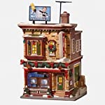 Department 56 Snow Village Buds T.V. and Hi-Fi Lit Building
