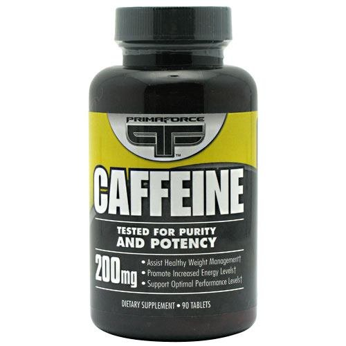 Primaforce Caffeine Tablets  200 mg,  90-Count Bottles (Pack of 4)