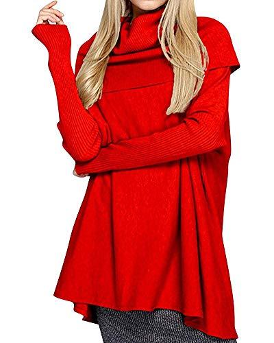 Dimensione colore Lunga Dolce Inverno Rosso Oudan L'autunno Per Taglia Abito Donna Rosso Unica Manica nawgxfBqFv