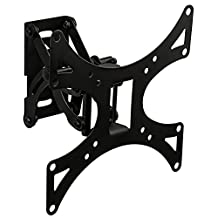 Mount-It! Single Stud TV Wall Mount for Samsung, Sony, LG, Sharp, Insignia, Vizio, Haier, Toshiba, Sharp, Element, TCL, Westinghouse 23, 24, 27, 30, 32, 40, 42 Inch, 4K, LCD, LED, VESA 75x75 to 200x200 (MI-4601)