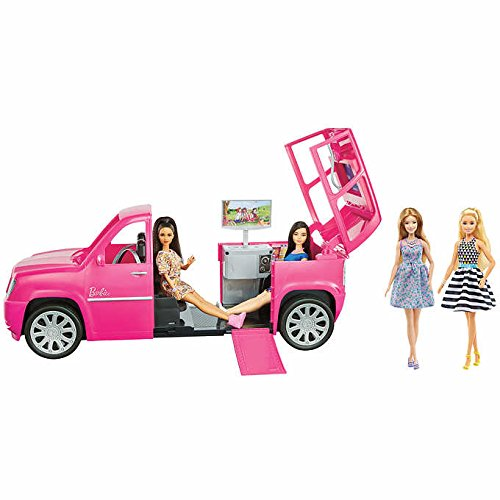ALL NEW! Trendy Barbie Pink Limousine with 4 Fashionista Barbie Dolls, 2 Ft. Ultimate Limo Vehicle with Accessories and Fun and Exciting Featurs. A Perfect Gift for Your Little Princess by .Barbie.