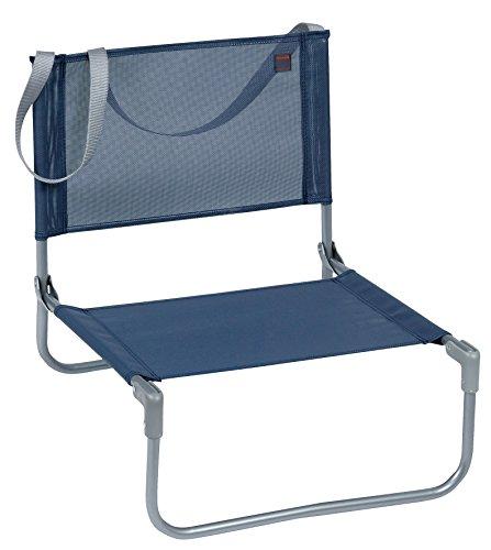 Lafuma Camping Chair - Lafuma CB Mesh Beach and Concert Chair – Steel Frame Compact Folding Low Chair - Ocean Blue
