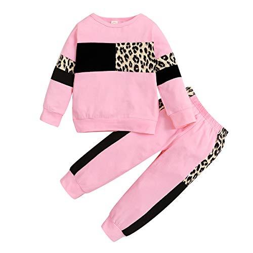 Borlai 2 stuks Baby Meisjes Luipaard Trainingspakken Outfits Sweatshirt Broek Zomer Lente Kleding Set 1-5 Jaar