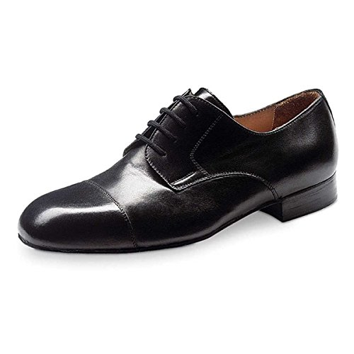 Werner Kern Hombres Zapatos de Baile 28011 - Cuero Negro - Ancho - 2 cm Ballroom