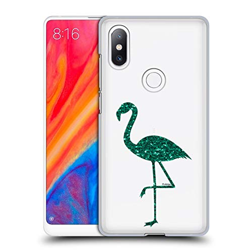 Mix Emerald (Official PLdesign Emerald Green Sparkly Flamingo Hard Back Case for Xiaomi Mi Mix 2S)