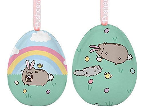 Dept 56 Pusheen Easter Bunny Tin Egg bundle with Egg Hunt Ti