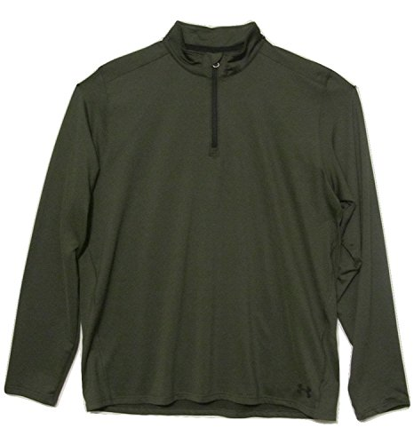Under Armour EVO uomo collo alto 1/4 zip top camicia 1220649 Loose Fit verde