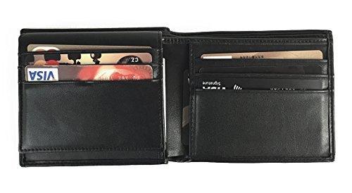 RFID Blockinhg Wallet, RFID Blocking Leather Wallet for Men - Excellent Travel Bifold - Credit Card Protector -...