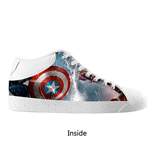 DONGMEN New Captain America Custom Female Women's Chukka Canvas Shoes Lace Up Breathable Sneakers