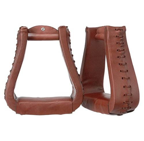 Oversized Leather Stirrups Dark Oil (Leather Western Stirrups)