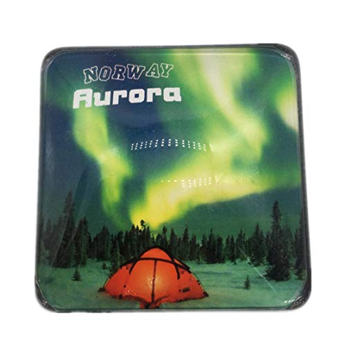 Aurora Tromso Norway Refrigerator Fridge Magnet City World Crystal Glass Handmade Tourist Travel Souvenir Collection Strong Word Letter Sticker Kids