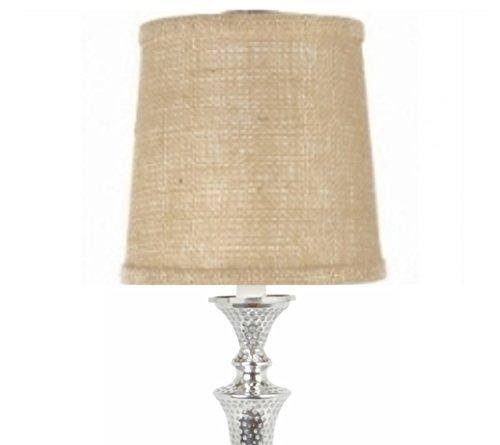 (Upgradelights Press on Slip Uno 10 Inch Lamp Shade Replacement in Beige Burlap 8.5x10x8)