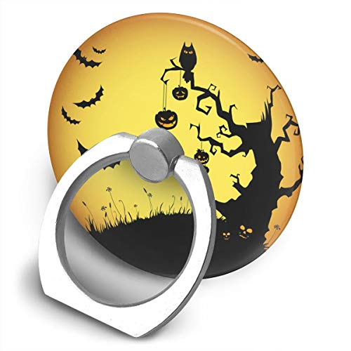 Tikkest Silly Halloween Backgrounds 360 Degree Rotating Finger Grip Cell Phone Anti Drop Holder Ring for Universal with All Cellphone Tablet Etc -