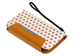 2 in 1 Polka Dot Synthetic Leather Wallet Credit Card ID Cover Case For Samsung Galaxy S3 i9300 Orange