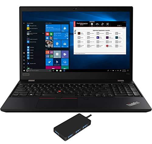 Lenovo ThinkPad P53s Workstation Laptop (Intel i7-8565U 4-Core, 24GB RAM, 1TB PCIe SSD, Quadro P520, 15.6″ Full HD (1920×1080), Fingerprint, WiFi, Bluetooth, Webcam, Win 10 Pro) with USB3.0 Hub