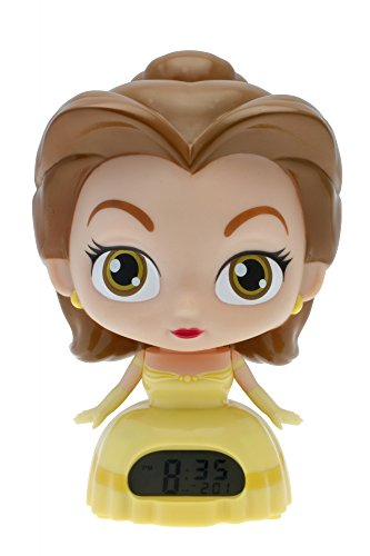 Princess Yellow Clock (BulbBotz Disney Princess Belle Kids Light Up Alarm Clock | yellow/brown | plastic | 7.5 inches tall | LCD display | boy girl | official)