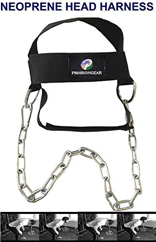 PRO IRON GEAR Head Harness Neck Strength Head Strap Weight Lifting Exercise Fitness ()