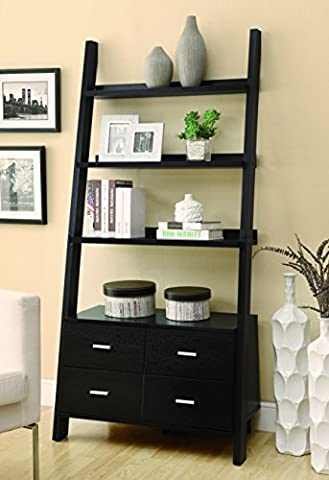 Coaster 800319 Home Furnishings Ladder Bookcase, Cappuccino - Home Furnishings