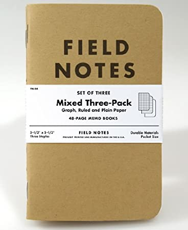 AmazonCom  Field Notes Kraft Mixed Pack  Memo Paper Pads