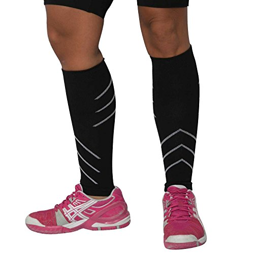 Leg Sleeves - Compression Calf Sleeves - Help Shin Splints, Calf Cramping, Faster Muscle Recovery by Generic (Image #1)