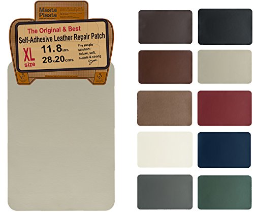 Patch Wrap - MastaPlasta, Leather Repair Patch, First-aid for Sofas Car Seats, Handbags Jackets, Plain 8-inch by 11-inch, Beige