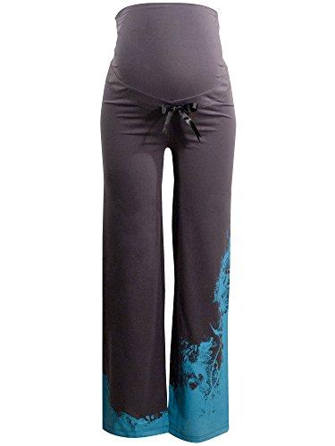 titoon® - pyjama de grossesse et allaitement - Blue Night - Bleu, gris, satin