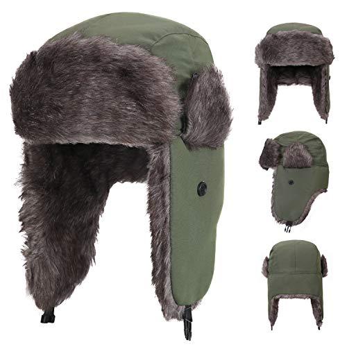 61ea41cde Yesurprise Trapper Warm Russian Trooper Fur Earflap Winter Skiing ...