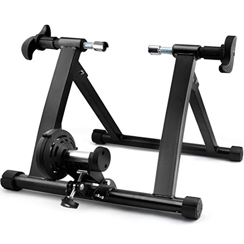 Gotobuy Magnet Steel Bike Bicycle Indoor Exercise Trainer Stand W/ 5 Levels of Resistance