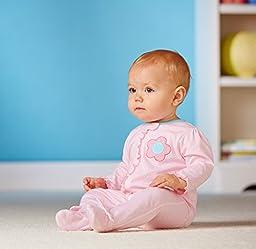 Gerber Baby-Girls Newborn 2 Pack Sleep N Play Zip Front, Flowers, 0-3 Months