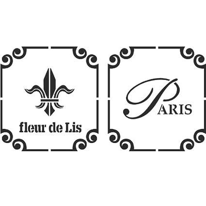 Amazon J BOUTIQUE STENCILS Fleur De Lis Paris Stencil Reusable