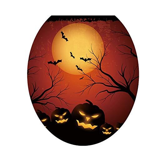 Aprettysunny Halloween Wallpaper Halloween Toilet Sticker Creative PVC DIY Removable -
