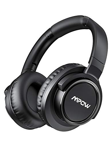 Mpow H18 Active Noise Cancelling (ANC) Headphone, 50 Hours Battery Life, Wireless Bluetooth Over-Ear Headphones with Hi-Fi Audio Bass, 17m/56ft Bluetooth Connecting Range