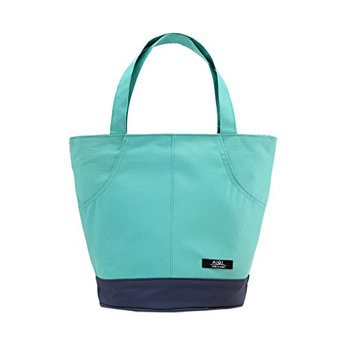 Kimanli Lunch Bags, Insulated Canvas Box Insulated coldTote Bag Lunch Organizer Lunch Holder Lunch Container Tote Bag for Women Kids Men (Mint Green) (Autumn Tin Mint)
