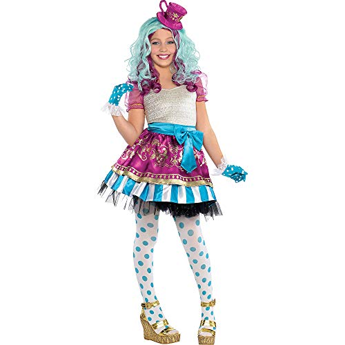 Ever After High Madeline Hatter Halloween Costume Supreme for Girls, Large, with Included Accessories, by Amscan -