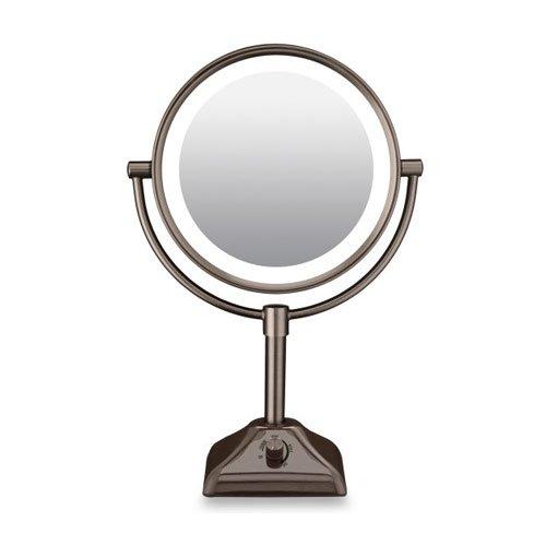 Lighted Vanity Mirror Oil Rubbed Bronze : Bronze Lighted Makeup Mirror 10X Saubhaya Makeup