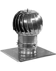 Tubo de la chimenea cubierta spinner plug-in de acero inoxidable de 250 mm de diámetro girando la capucha con plato extra techo
