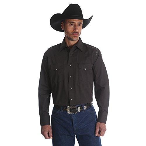 Wrangler Men's Silver Edition Black Long Sleeve Western Snap Shirt Size XXL
