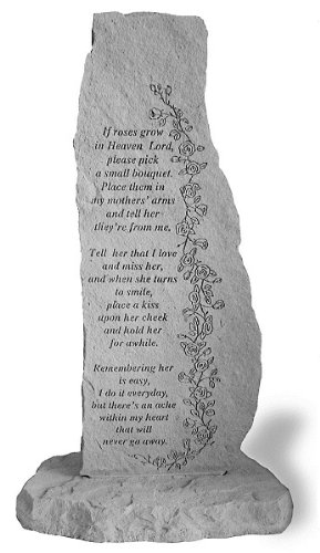 If Roses Grow In Heaven Memorial Stone Totem