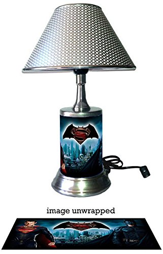 Superman Batman Lamp with chrome shade