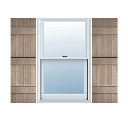 "LJ4S14X05900WI Lifetime Vinyl Standard Four Joined with Board-n-Batten Shutters, 14"" x 59"" Wicker"