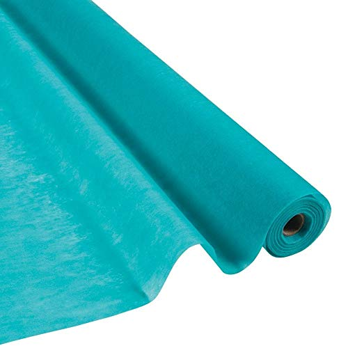 (Fun Express Turquoise Gossamer Roll 100 FT X 3 FT Wedding Aisle Decoration Table Cover,)