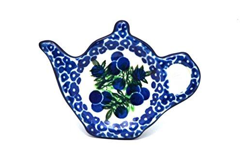 Polish Pottery Tea Bag Holder - Huckleberry