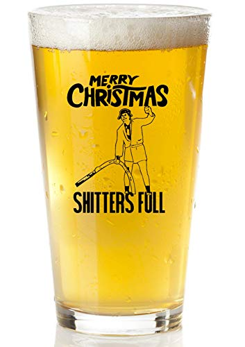 Shitters Full Beer Glass - Griswold Christmas Vacation Gift